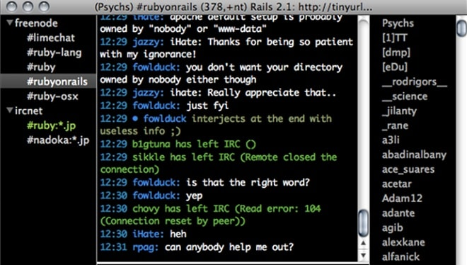 irc client for chatting